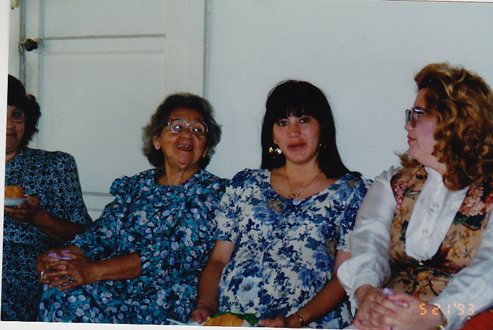 Tante Akie, Oma Emmy, Paula and Maggie 5/21/1993
