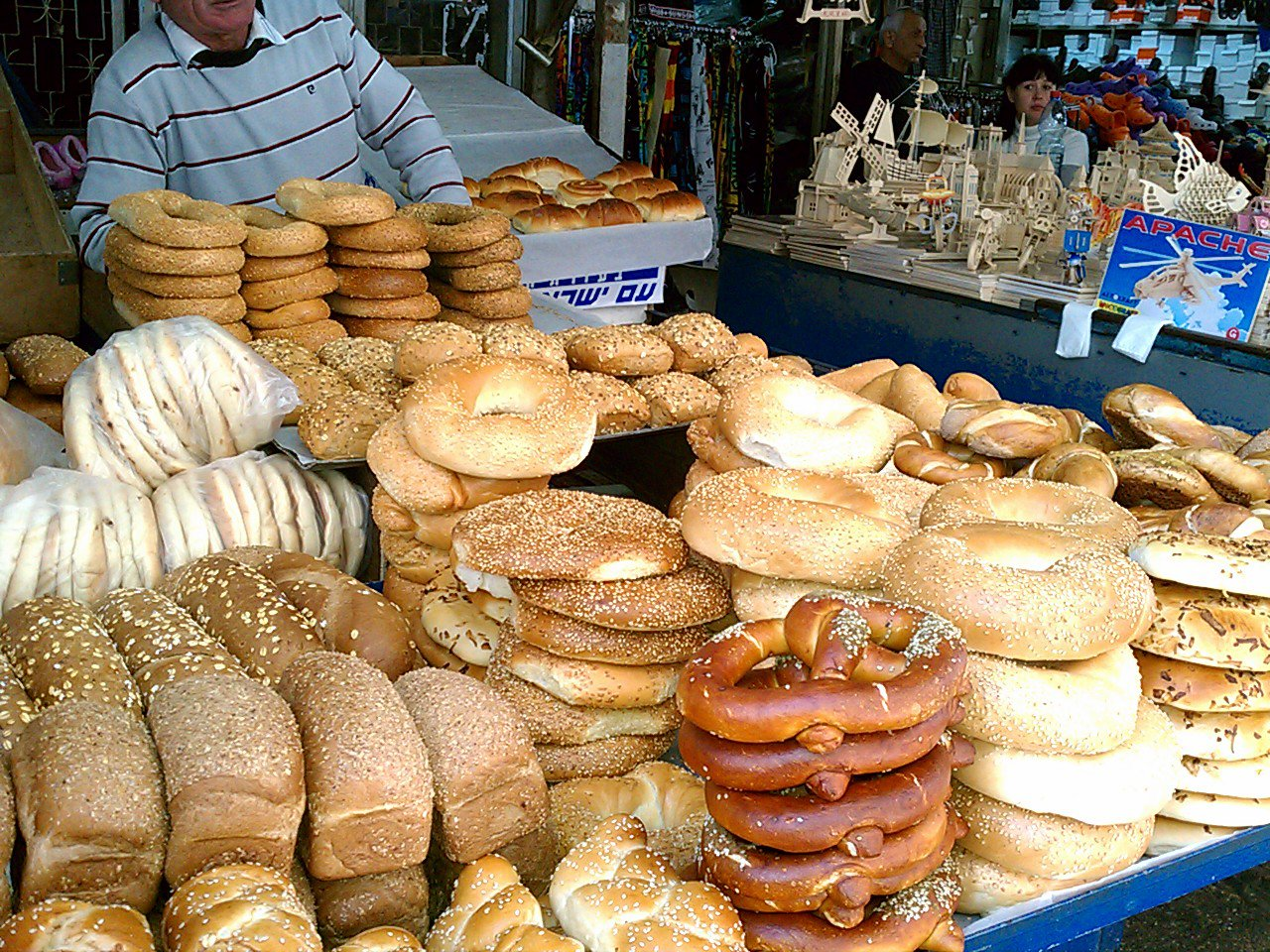 Tel Aviv marketplace – wow look at all that bread…